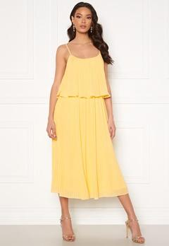 VILA Katelyn S/L Pleated Midi Dress Sunlight Bubbleroom.se