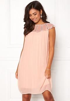 VILA Kiva S/L Dress Peach Blush Bubbleroom.se