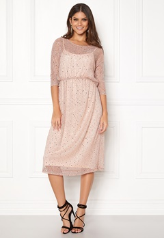 VILA Kyle Long 3/4 Dress Peach Blush Bubbleroom.se