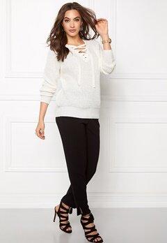 VILA Lace Knit Top Snow White Bubbleroom.se