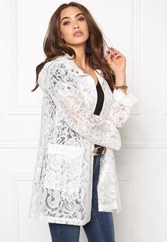 VILA Laces Rain Coat Snow White Bubbleroom.no