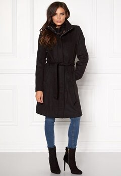 VILA Leam Coat Black Bubbleroom.fi