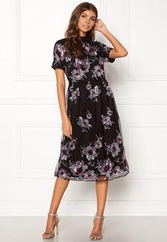 VILA Leonore S/S Dress Black Bubbleroom.se