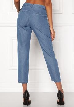 VILA Liama 7/8 Straight Pants Medium Blue Denim Bubbleroom.se