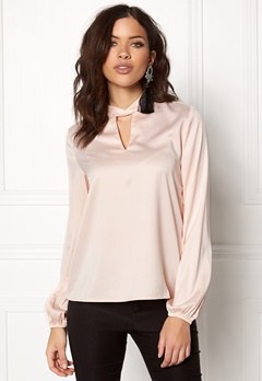 VILA Lianna L/S Top Peach Blush Bubbleroom.fi