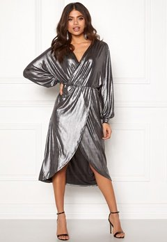 VILA Limma Midi Dress Silver Bubbleroom.se