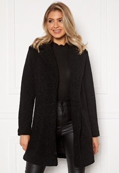 VILA Liosi Teddy Coat Black Bubbleroom.se