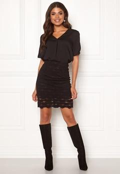 VILA Lizette Skirt Black Bubbleroom.se