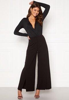 VILA Loane HW 7/8 Slit Pants Black Bubbleroom.se