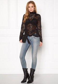 VILA Loras l/s Lace Top Black Bubbleroom.se