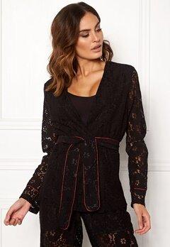 VILA Luas Lace Blazer Black Bubbleroom.se