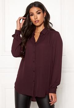 VILA Lucy L/S Button Shirt Winetasting Bubbleroom.se