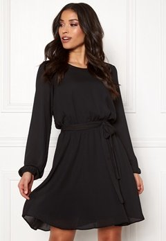 VILA Lucy L/S Dress Black Bubbleroom.se