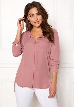 VILA Lucy L/S Shirt Ash Rose Bubbleroom.se