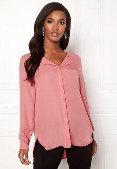 VILA Lucy L/S Shirt Brandied Apricot Bubbleroom.se