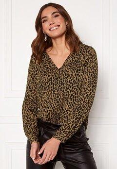 VILA Lucy L/S Shirt Butternut  Wild Bubbleroom.se