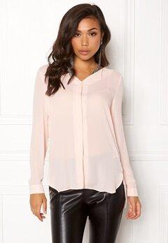 VILA Lucy L/S Shirt Peach Blush Bubbleroom.se