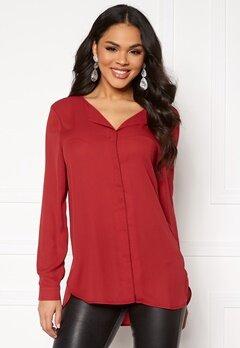 VILA Lucy L/S Shirt Scarlet Sage Bubbleroom.se