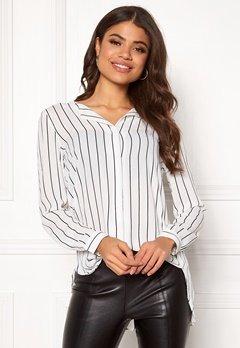 VILA Lucy L/S Shirt Snow White / Stripe Bubbleroom.se