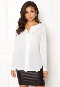 VILA Lucy L/S Shirt White Bubbleroom.se