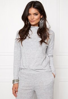 VILA Lune Knit Top Light Grey Mel. Bubbleroom.se