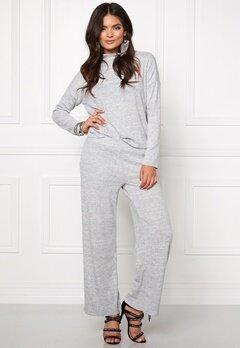 VILA Lune Knit Top Light Grey Mel Bubbleroom.no