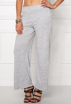 VILA Lune Wide Knit Pant Light Grey Mel Bubbleroom.no