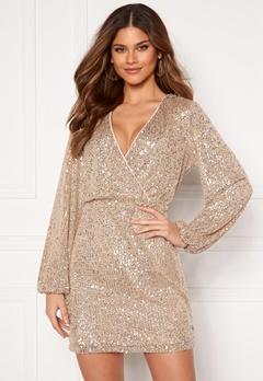 VILA Lyc L/S Short Dress Frosted Almond Bubbleroom.se