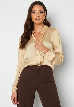 VILA Malione Cuff Detail Shirt Frosted Almond bubbleroom.se
