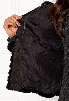 VILA Maya Faux Fur Jacket Black Bubbleroom.fi