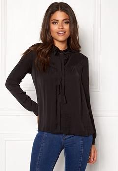 VILA Melli Bow Shirt Black Bubbleroom.no