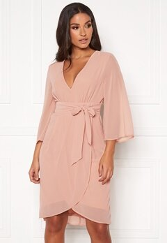 VILA Micada 3/4 Sleeve Dress Pale Mauve Bubbleroom.se