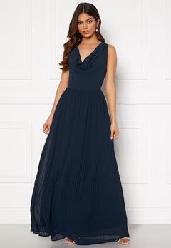 VILA Micada Draped  Maxi Dress Navy Blazer Bubbleroom.se