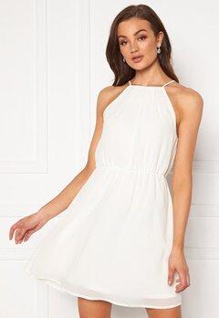 VILA Micada S/L Short Dress Cloud Dancer Bubbleroom.se
