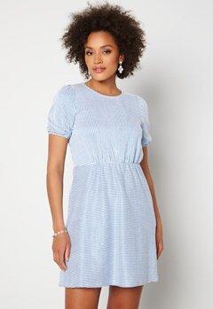 VILA Milac O-Neck S/S Dress Cashmere Blue Stripe Bubbleroom.se