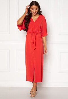 VILA Milena 2/4 Ancle Dress Flame Scarlet Bubbleroom.se