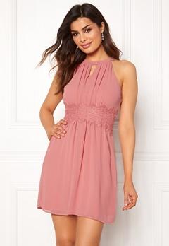 VILA Milina Halterneck Dress Brandied Apricot Bubbleroom.se