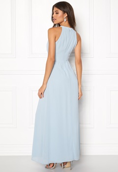 VILA Milina Halterneck Dress Celestial Blue Bubbleroom.se