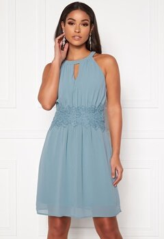 VILA Milina Halterneck Dress/Su Noos Ashley Blue Bubbleroom.se