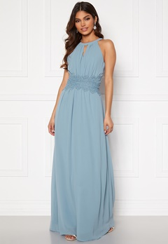 VILA Milina Maxi Dress Ashley Blue Bubbleroom.se