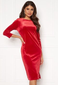 VILA Minny Velvet Dress Scarlet Sage Bubbleroom.se