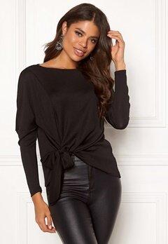 VILA Namina L/S T-Shirt Black Bubbleroom.se