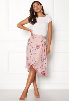 VILA Nandi Wrap Midi Skirt Adobe Rose Bubbleroom.se