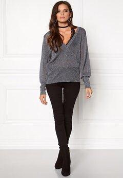 VILA Nelli l/s knit top Ebony Bubbleroom.se