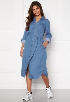 VILA Oakes Midi Shirt Dress Medium Blue Denim Bubbleroom.se