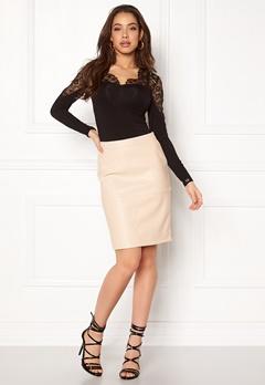 VILA Pen New Skirt Sandshell Bubbleroom.se