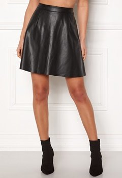 VILA Pen Skater Skirt Black Bubbleroom.se