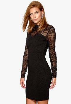 VILA Perfecta L/S dress Black Bubbleroom.fi