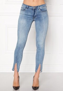 VILA Petal Super Slim Jeans Medium Blue Denim Bubbleroom.no