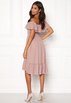 VILA Petra S/S Dress Adobe Rose Bubbleroom.se
